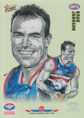 Brad Johnson, Gem card, 2007 Select AFL Champions