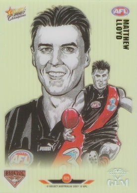 Matthew Lloyd, Gem card, 2007 Select AFL Champions