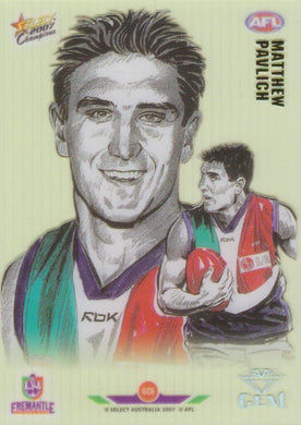 Matthew Pavlich, Gem card, 2007 Select AFL Champions