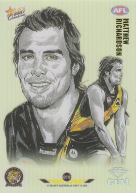 Matthew Richardson, Gem card, 2007 Select AFL Champions