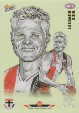 Nick Riewoldt, Gem card, 2007 Select AFL Champions