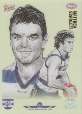 Matthew Scarlett, Gem card, 2007 Select AFL Champions