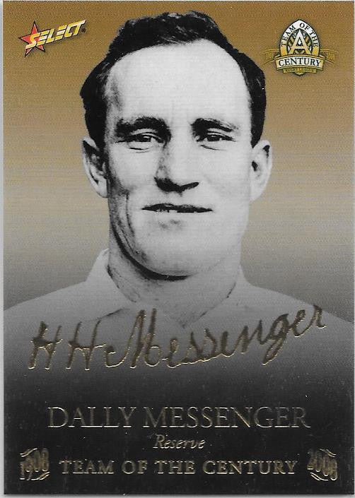 Dally Messenger, TOC Gold Foil Signature, 2008 Select NRL Centenary of Rugby League