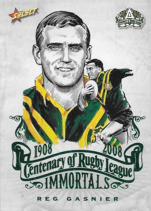 Reg Gasnier, Immortals Sketch, 2008 Select NRL Centenary of Rugby League
