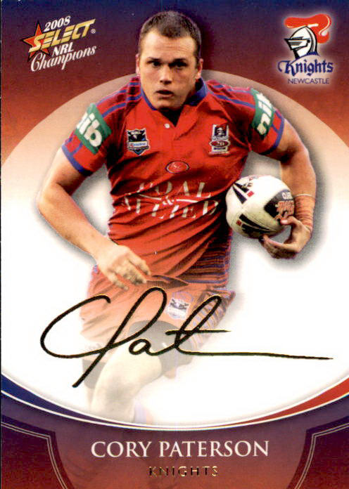 Cory Paterson, Gold Signature, 2008 Select NRL Champions