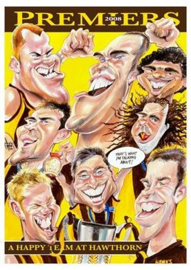 Hawthorn 2008 Premiers, Harv Time Poster