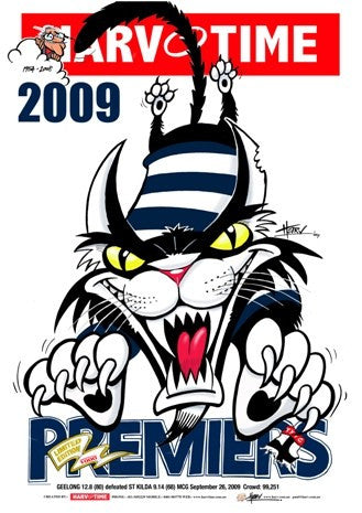 Geelong 2009 Premiership, Harv Time Poster