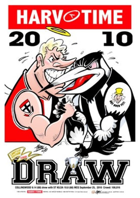 2010 Premiers, Collingwood v St Kilda Drawn Grand Final, Harv Time Poster