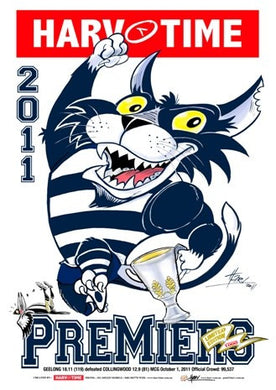 Geelong 2011 Premiership, Harv Time Poster