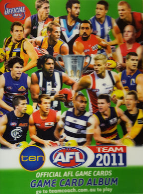 2011 Teamcoach AFL Set in Album