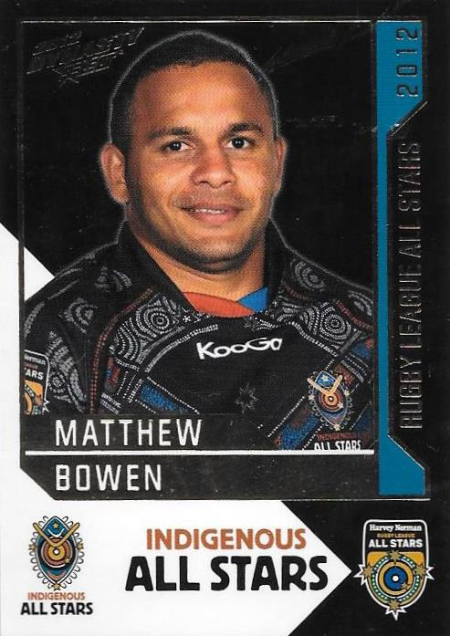 Matthew Bowen, Rugby League All Stars, 2012 Select NRL Dynasty