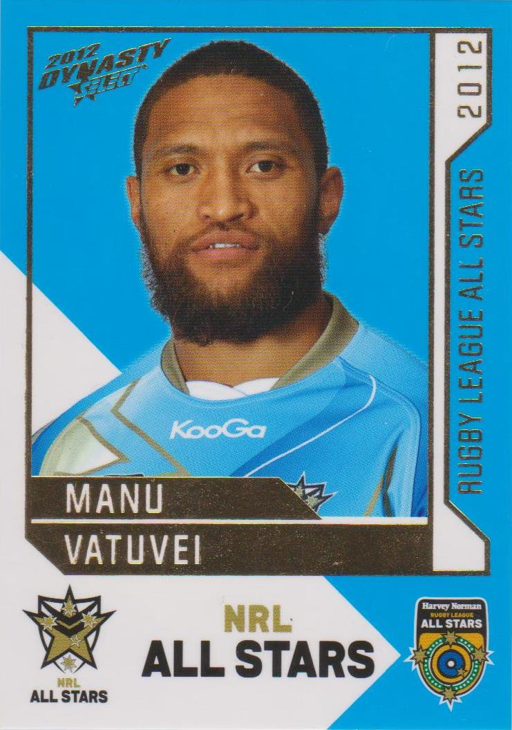 Manu Vatuvei, Rugby League All Stars, 2012 Select NRL Dynasty