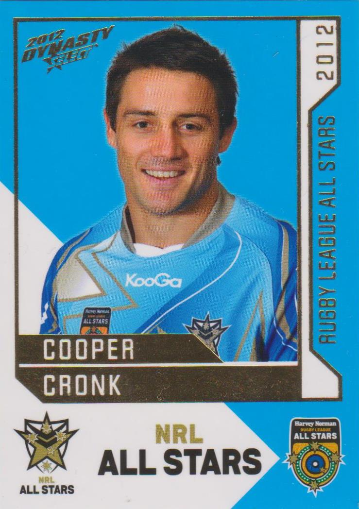 Cooper Cronk, Rugby League All Stars, 2012 Select NRL Dynasty