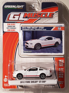 2012 Ford Shelby GT500, Greenlight GL Muscle, 1:64 Diecast Vehicle
