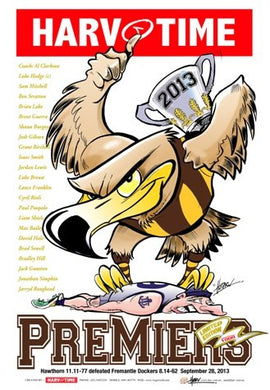 Hawthorn 2013 Premiers, Harv Time Poster