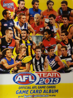 2013 Teamcoach AFL Set in Album