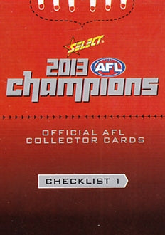 2013 Select AFL Champions Set of 220 Football cards
