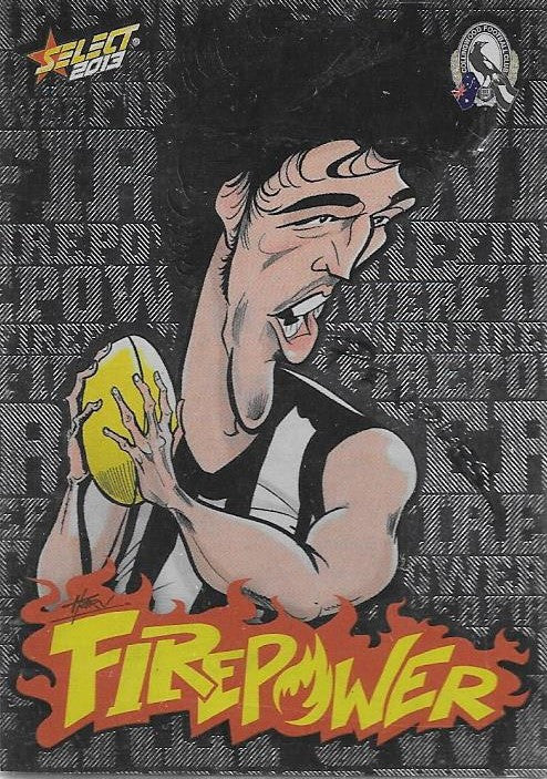 Scott Pendlebury, Firepower Caricature, 2013 Select AFL Champions