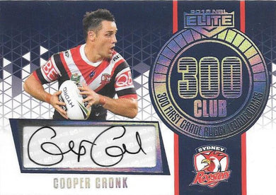 Cooper Cronk, 300 Club Signature Case card, 2018 TLA esp Elite NRL