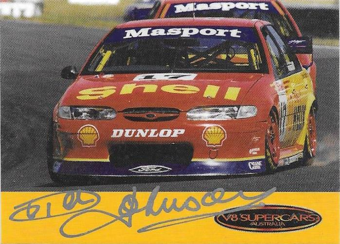 Dick Johnson, V8 Supercars Signature card, 1999 LSA