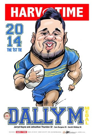 Jarryd Hayne, 2014 Dally M, Harv Time Poster