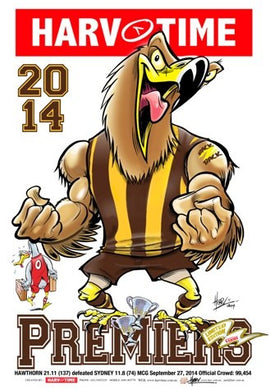 Hawthorn 2014 Premiers, Harv Time Poster