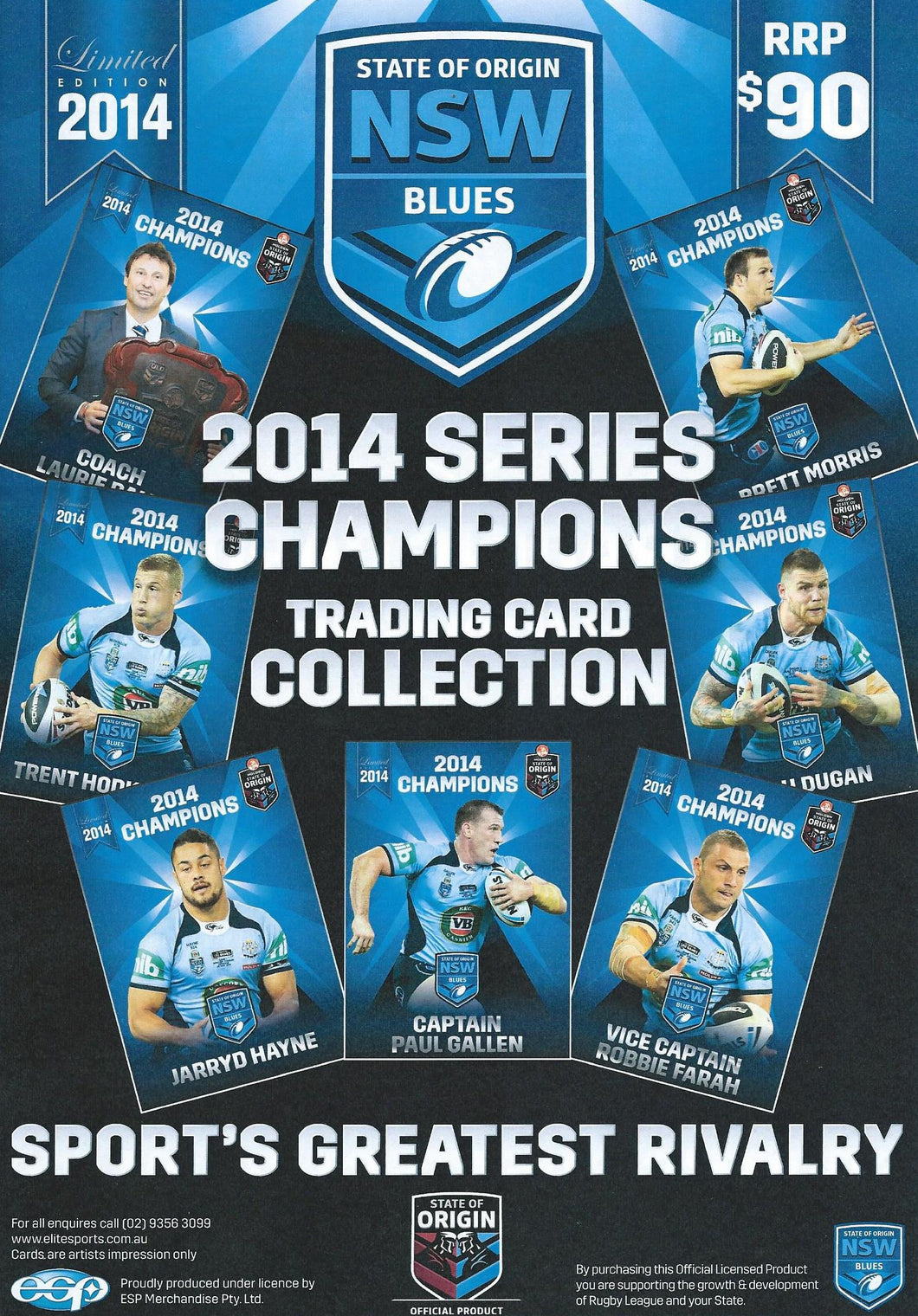 2014 State of Origin, NSW Blues, Series Champions Card Set