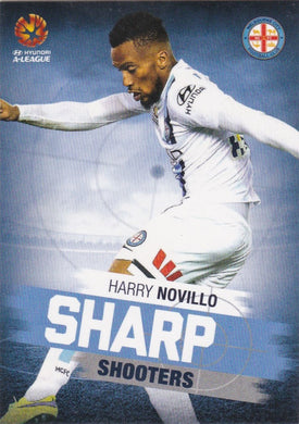 2015-16 Tap'n'play FFA A-League Soccer, Sharp Shooters, Harry Novillo, # SH-06