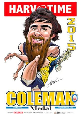 Josh Kennedy, 2015 Coleman Medal, Harv Time Poster
