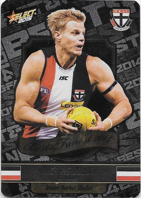 Nick Riewoldt, Best & Fairest, 2015 Select AFL Champions