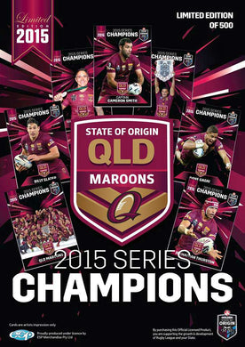 2015 State of Origin, QLD Maroons, Series Champions Card Set