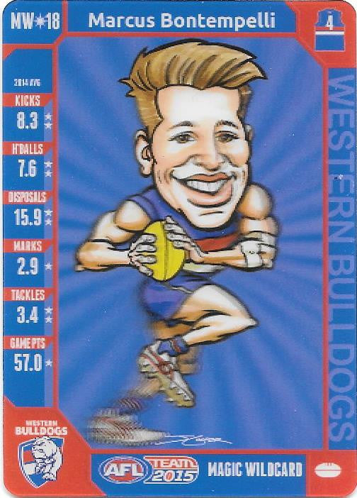 Marcus Bontempelli, Magic Wildcard, 2015 Teamcoach AFL