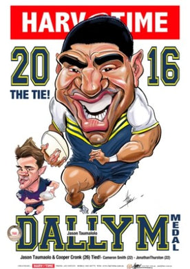 Jason Taumalolo, 2016 Dally M, Harv Time Poster