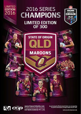 2016 State of Origin, QLD Maroons, Series Champions Card Set
