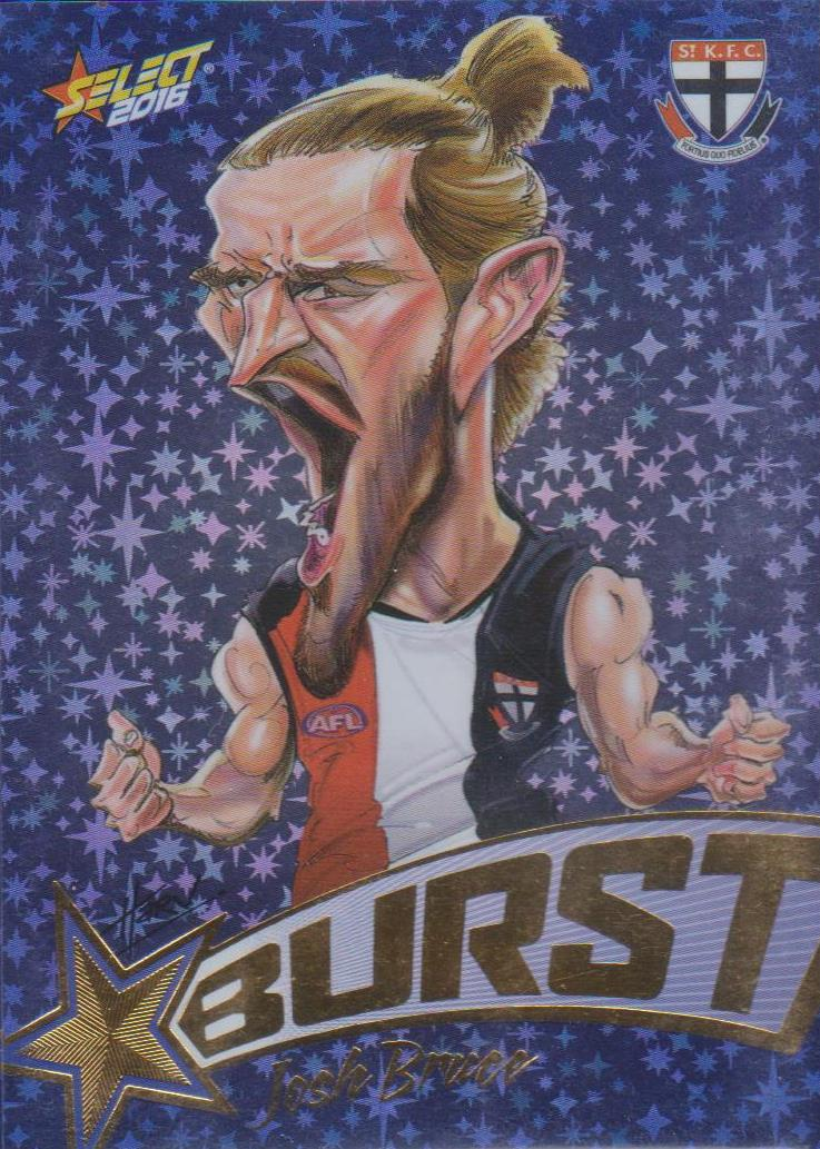 Josh Bruce, Starburst Blue Caricatures, 2016 Select AFL Stars