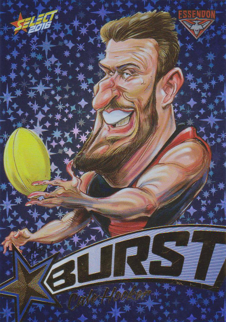 Cale Hooker, Starburst Blue Caricatures, 2016 Select AFL Stars