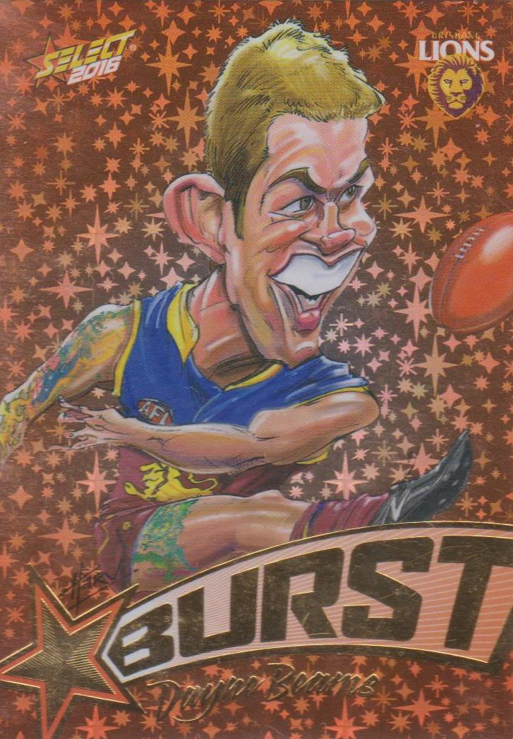Dayne Beams, Starburst Caricatures, 2016 Select AFL Stars