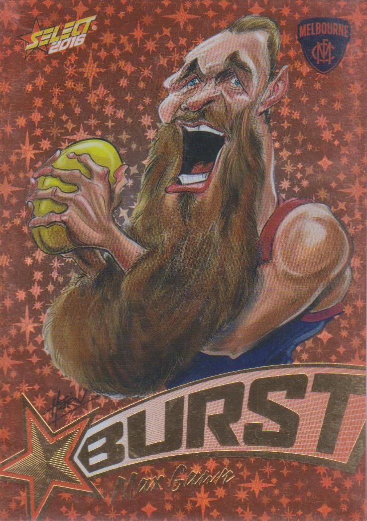 Max Gawn, Starburst Caricatures, 2016 Select AFL Stars