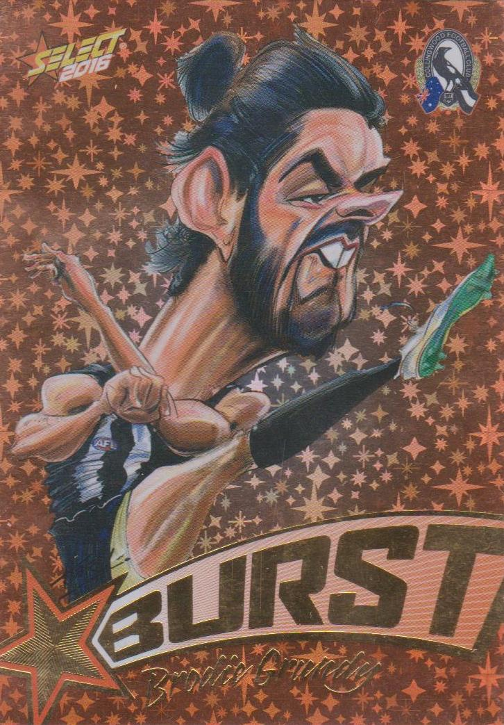 Brodie Grundy, Starburst Caricatures, 2016 Select AFL Stars