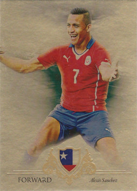 Alexis Sanchez, Gold Parallel, 2016 Futera Unique Soccer
