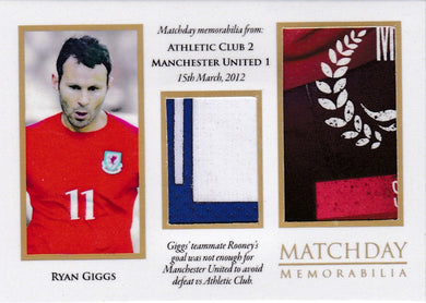 Ryan Giggs, Match Day Memorabilia, 2016 Futera Unique Soccer
