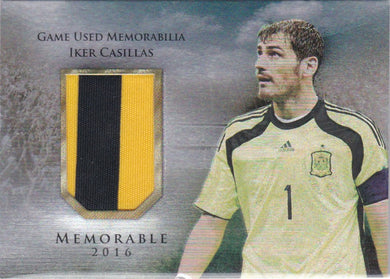 Iker Casillas, Memorable, 2016 Futera Unique Soccer