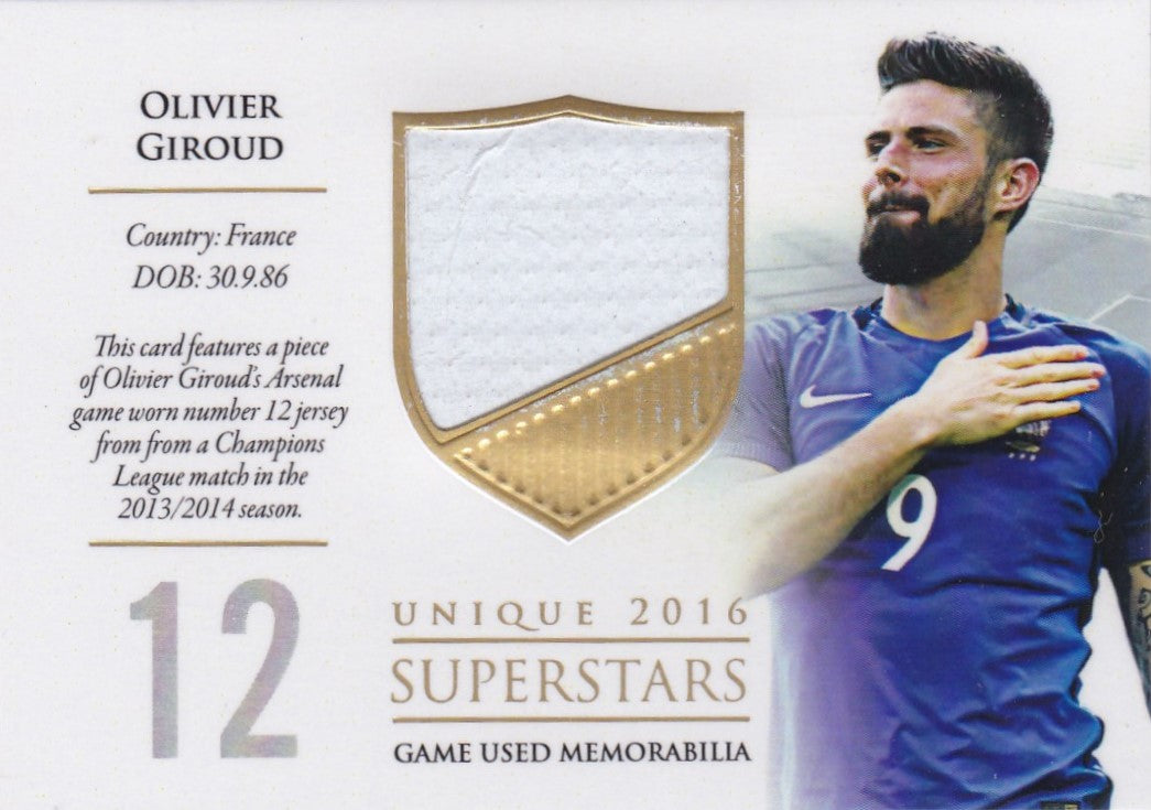 Olivier Giroud, Superstars, 2016 Futera Unique Soccer