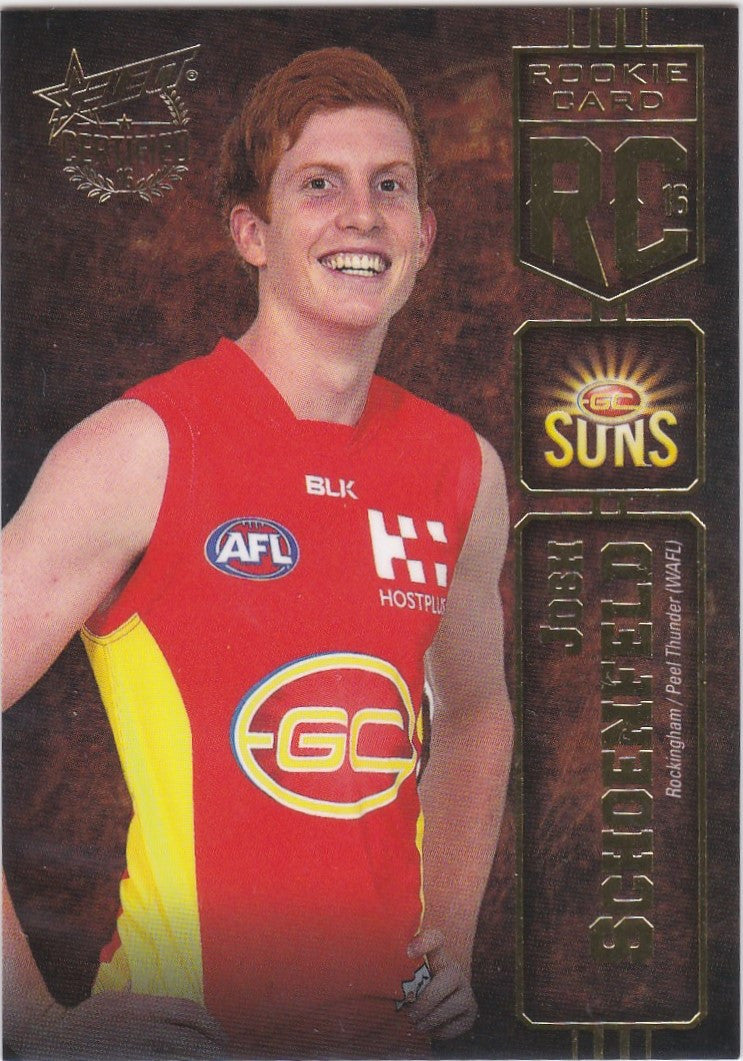 2016 Select AFL Certified, Rookie Card, Josh Schoenfeld