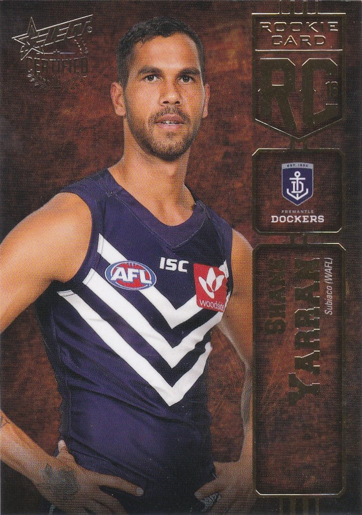 2016 Select AFL Certified, Rookie Card, Shane Yarran