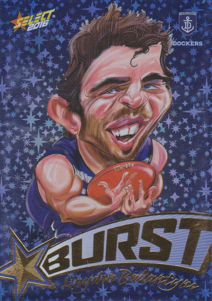 Hayden Ballantyne, Starburst Blue Caricatures, 2016 Select AFL Stars