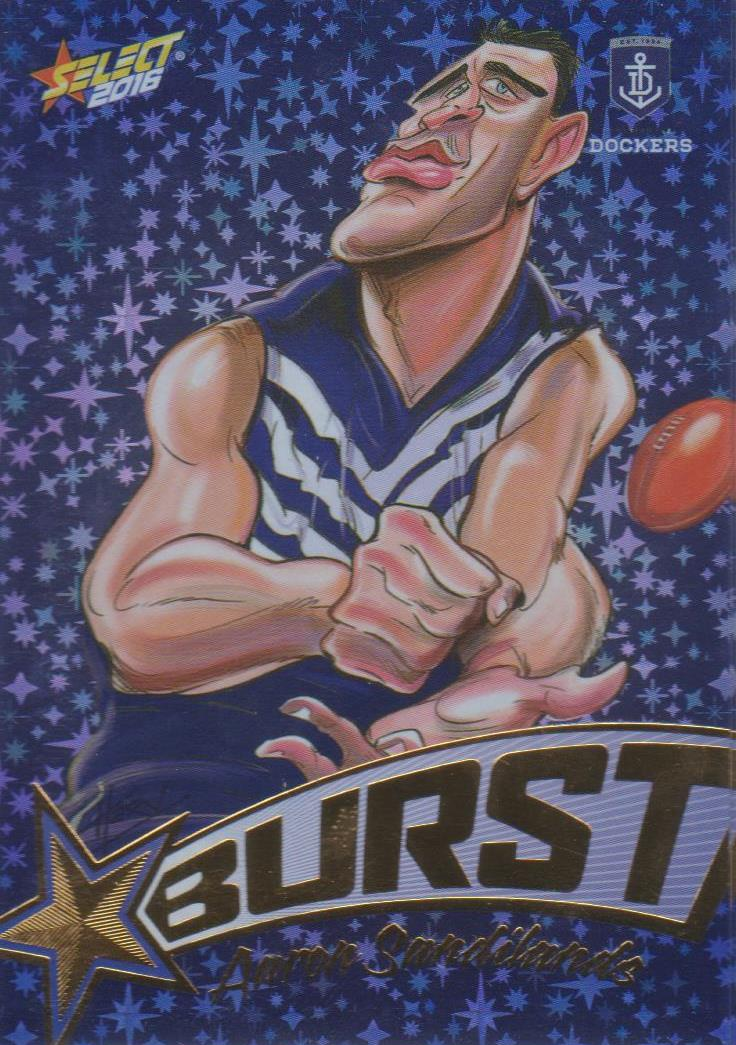 Aaron Sandilands, Starburst Blue Caricatures, 2016 Select AFL Stars