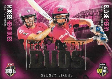 Big Bash Duos, 2017-18 Tap'n'play CA BBL 07 Cricket - 1 to 8 - Pick Your Card