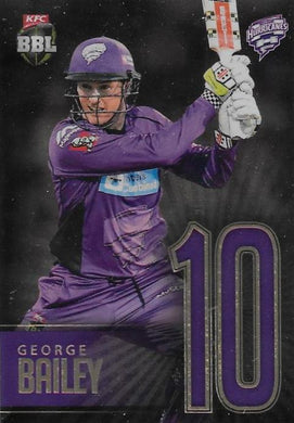 George Bailey, Jersey Numbers Gold, 2017-18 Tap'n'play CA BBL 07 Cricket
