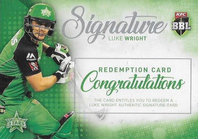 Luke Wright, Signature Redemption, 2017-18 Tap'n'play CA BBL 07 Cricket